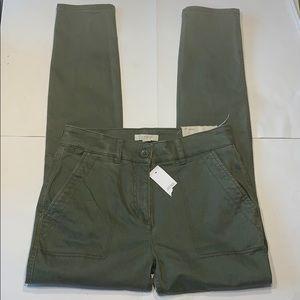 New Loft olive green utility pants